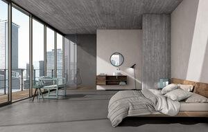 Интерьер из новой коллекции Kerlite Cement Project
