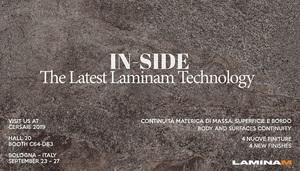 Laminam представит новую коллекцию In-Side на выставке Cersaie 2019