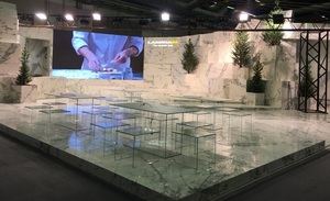 Стенд фабрики Laminam на Cersaie 2018