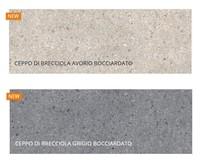 В коллекции I Naturali Laminamrus появились новинки: Ceppo di Brecciola Avorio/Grigio
